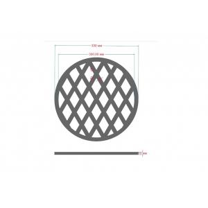 Решетка гриль чугунная круглая  330мм