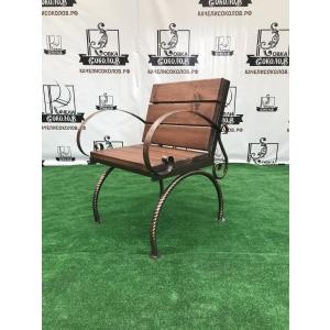 Кресло металлическое с доской