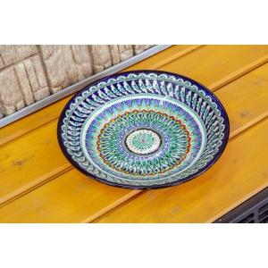 Риштанский ляган синний 34см