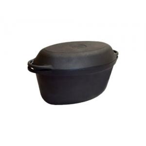Кастрюля-утятница чуг.тер. V=3.5л чугунная крышка-сковорода СИТОН